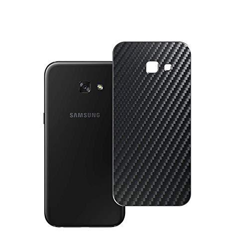 Vaxson 2 Unidades Protector de pantalla Posterior, compatible con Samsung Galaxy A7 2017 A720, Película Protectora Espalda Skin Cover - Fibra de Carbono Negro