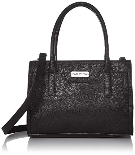 Nautica Sandy Jr. Top Handel Satchel with Removable Crossbody Strap, Black