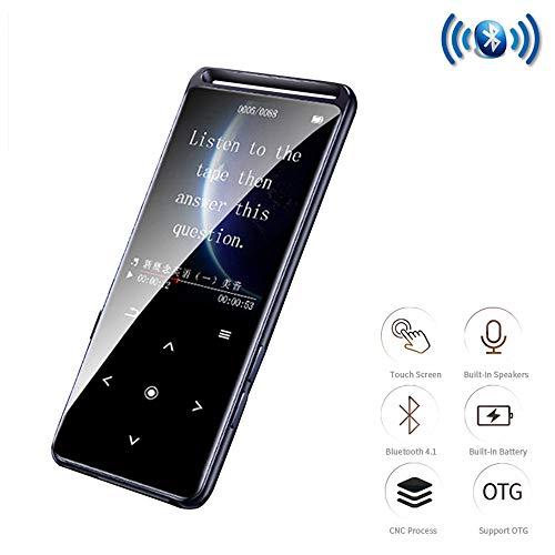 CWHALE Reproductor de MP3 MP4 Bluetooth 5.0 sin pérdida 1.8 Pulgadas 16 GB Pantalla táctil de Alta fidelidad de Audio portátil Walkman con Radio FM Ebook Grabadora de Voz