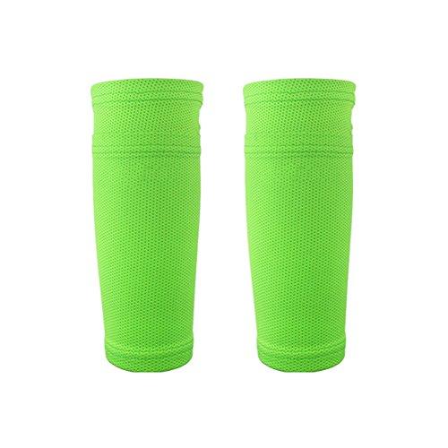 Leezo Soccer Calcetines De Protección con Bolsillo para Protectores Shin, Mangas De Pierna para Correr Ciclismo Fútbol Rugby Gimnasio Golf Tenis