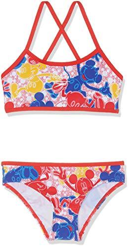 Speedo Girls Disney Mickey Mouse Allover 2 Piece Suit Mickeycamo BlueRedYellow Size 34