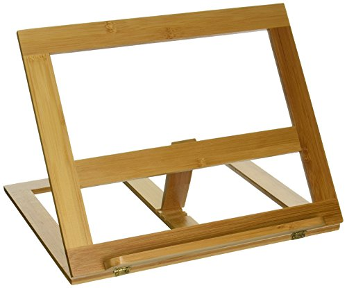 Trademark Innovations Cookbook Holder - All Natural Bamboo