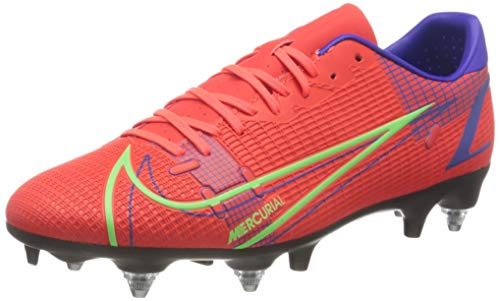Nike Herren Vapor 14 Academy SG-Pro AC Football Shoe, Bright Crimson/Metallic Silver-Indigo Burst-White-Rage Green, 46 EU
