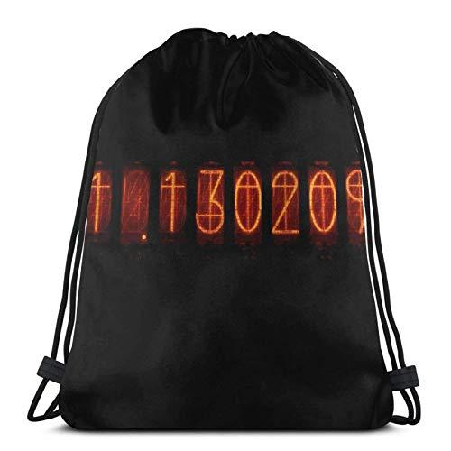 LREFON Shingeki No Kyojin Divergence Meter Custodia per Telefono Steins; Gate Sport Bag Sacco da Palestra Zaino con Coulisse Solid Cinch Pack