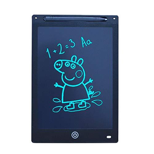 Tableta de escritura LCD colorida inteligente de 12 pulgadas Tablero gráfico de mensaje de dibujo digital Tablero de escritura para niños Tablero de escritura Regalo negro