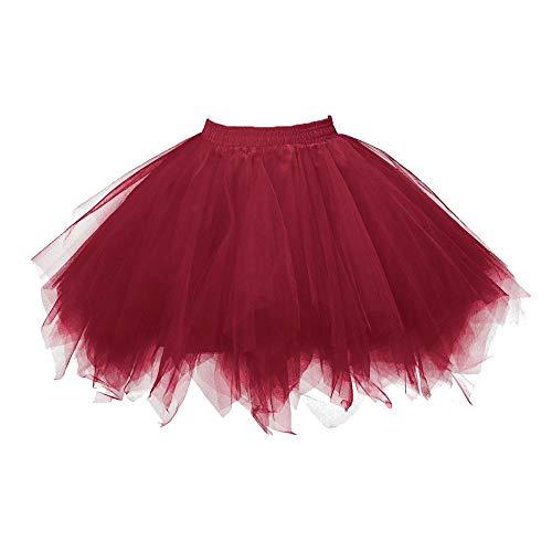 Aiserkly 50er Jahre Retro Tutu Tüllrock Damen Vintage Petticoat Reifröcke Unterrock für Rockabilly Kleid Festliches Kleid Brautkleid Ballkleid Mini Kleid Empire B