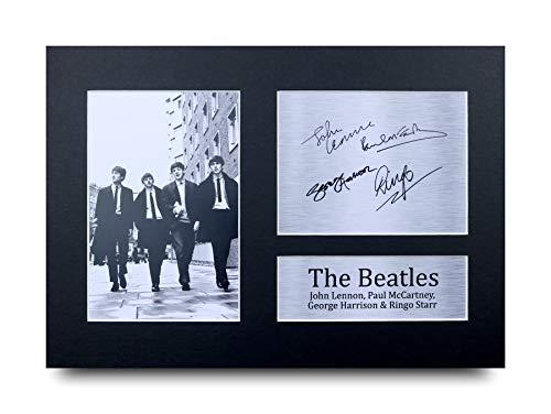 HWC Trading The Beatles A4 Ungerahmt Signiert Gedruckt Autogramme Bild Druck-Fotoanzeige Geschenk Für John Lennon Ringo Starr Paul McCartney George Harrison Musik-Fans