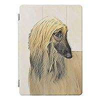 RECASOアフガンハウンド 絵画 かわいい元 犬 芸術 iPad Air2 エア2(A1566, A1567)用 スマートカバー ケース アイパッド エア 2 ケース iPad 三つ折り保護カバー TPUケース ソフトケース 軽量・極薄タイプ