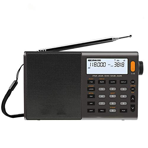C- Tragbares Digitalradio UKW Stereo/SW/MW/LW SSB AIR RDS Multi-Band-Radiosprecher mit LCD-Display Radiowecker