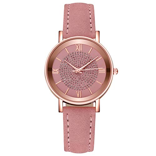 Women's Watch Classic Quartz Watch Leather Band Stainless Steel Dial Bracelet Watch Wrist Watches for Girls Ladies