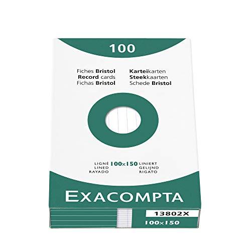 Fichas Cartulina Rayadas 100X150 Marca Exacompta