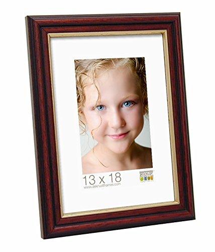 Deknudt Frames S55AH2–10.0 X 15.0 Fotolijst Bruges met gouden randen, shiny-brown