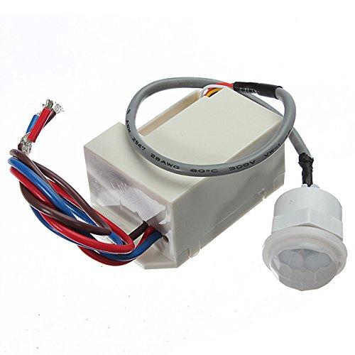 Masunn 220V Mini Pir bewegingsmelder detector voor 12V Dc timer relais relais auto caravan alarm