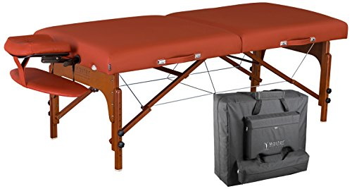 Master Massage Santana Memory Foam Portable Massage Table Package, Mountain Red, 31 Inch