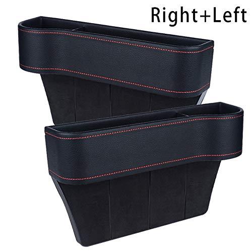 Aemiy Multifunctional Car Seat Organizer Car Seat Gap Filler Car Seat Pockets PU Leather Car Console Side Organizer Filler Catch Storage Box