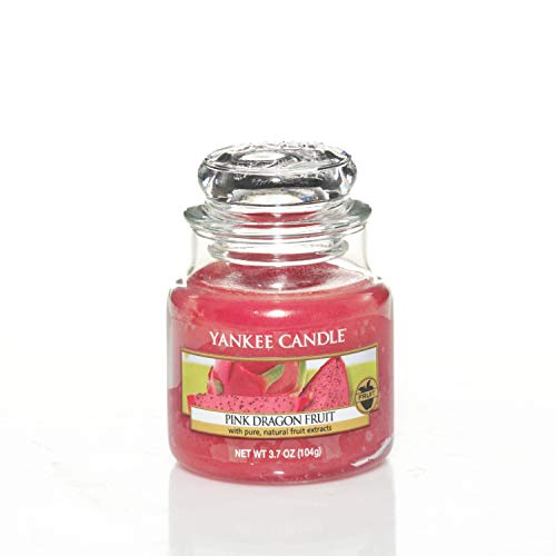 Yankee Candle Vela pequeña aromática en Tarro a Fruta del dragón Rosa,...