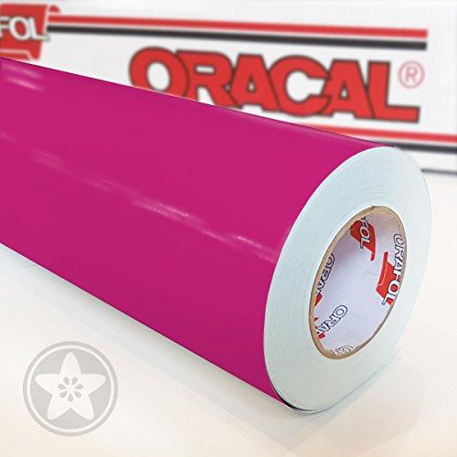 hauptsachebeklebt Klebefolie Oracal 621 Folien Set 041 - Pink - 5m x 61,5cm - Orafol - Möbelfolie - Plotterfolie - Selbstklebend (Folien...