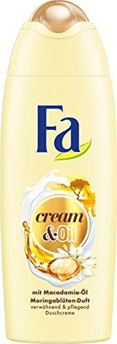 Fa douchegel Cream & Oil Macadamia Moringablütengeur, verpakking van 6 (6 x 250 ml)