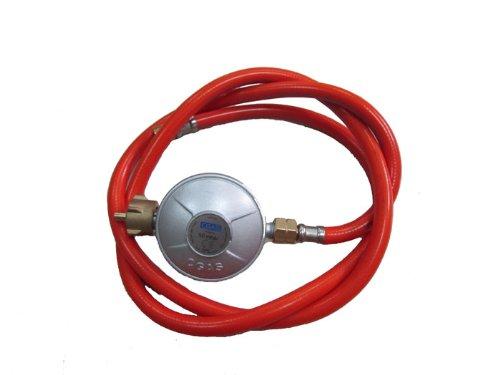 Maxxus Druckminderer mit Gasschlauch 50 mbar, 80 cm Schlauch, Regler-Set für Gasgrills und Gaskocher