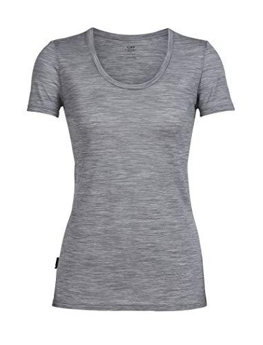 Icebreaker Damen Spector Merino T-Shirt, Metro Hthr, XS