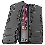 NH Funda Sony Xperia XA Shockproof Carcasa 360 Grados Protective + [Protector Pantalla 2 Piezas] Hard PC y Silicona TPU Kickstand Tough Armor Case para Sony Xperia XA -Negro