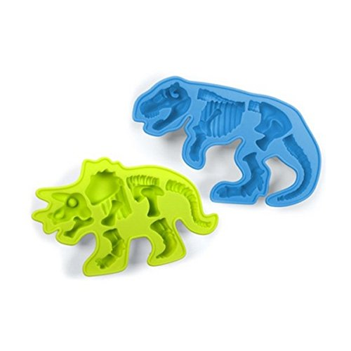 Silicone Dinosaur Bones Chocolate Molds - Triceratops and T-Rex - Instructions Included