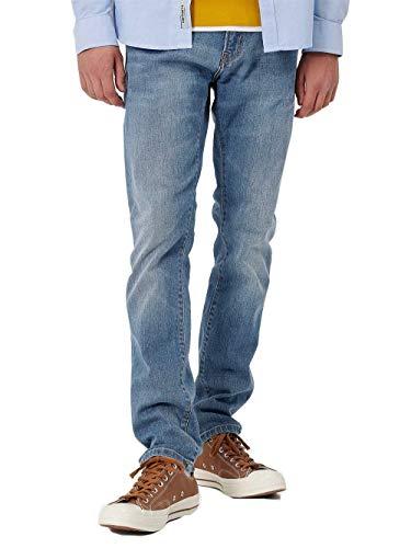 CARHARTT WIP Rebel Pant Jeans Slim, estrecho en fondo, vaquero elástico Mid Wash (W33)