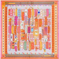 YDMZMS 100 x 100 cm zijden sjaal voor dames, modieus, Pretty Lady armband, decoratief, groot, vierkant