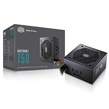 Cooler Master MasterWatt 750 Watt Semi-fanless Modular Power Supply 80 Plus Bronze Certified