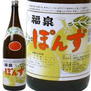 福泉産業 業務用 福泉ポン酢 青だいだい果汁 1.8L瓶入