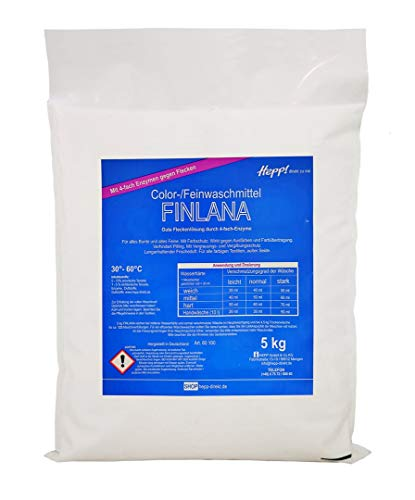 Hepp Kompaktwaschmittel Fein-Buntwaschmittel Finlana (2 x 5 kg Beutel)