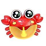 PerGrate Baby Badespielzeug Krabben Musik Bad Bubble Maker Pool Schwimmen Badewanne Seifenmaschine...