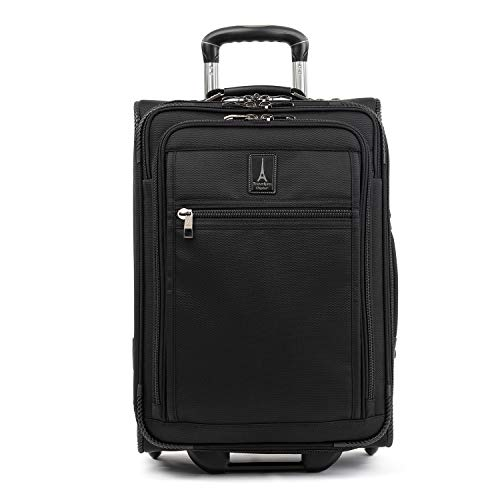 Travelpro Crew Expert-Softside Expandable Rollaboard Upright Luggage, Jet Black, Carry-On 21-Inch