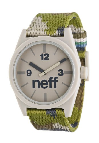 Neff Daily Woven Watch Uhr Camo, Green, Uni