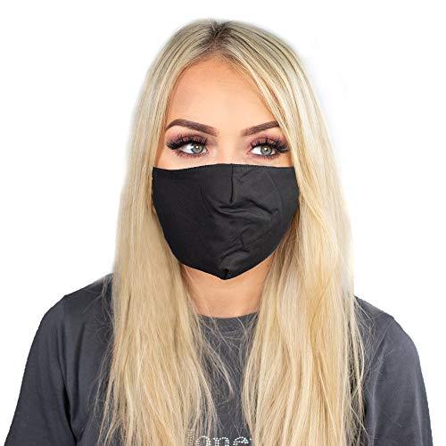 Myga Bamboo Plain Black Charcoal Face Covering