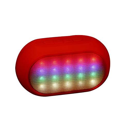 SXXDERTY Altavoz Bluetooth con TWS y Light Show, Altavoces portátiles Altavoces estéreo inalámbricos con Tiempo de reproducción 7H, Radio FM para el hogar, Fiesta