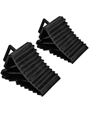 Gorgeri Tire Slip Stopper, 2pcs ABS Plastic Car Anti-slip Block Tire Slip Stopper Bloque de alineación de ruedas (Negro)