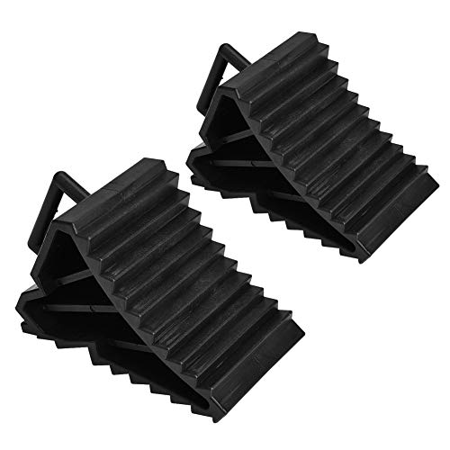 Gorgeri Tire Slip Stopper, 2pcs ABS Plastic Car Anti-slip Block Tire Slip Stopper Bloque de alineación de ruedas (Negro)