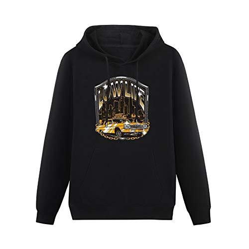 Low Life Lowrider Car Printed Lightweight Hoodie for Mens Long Sleeve Hooded Pullover Sweatshirts Black L