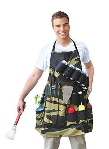 BigMouth Inc The Grill Sergeant BBQ Apron, Cotton Camouflage Gag Gift for...