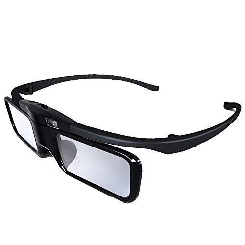 JmGO Rechargeable Active 3D Shutter Glasses - Only Support JMGO DLP-Link 3D Projectors Laser TV, 34.5 Grams of Weight Fashion Design 3D Glasses, Charge Once can Last 40hr(Black)