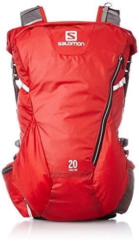 Salomon, AGILE 20 AW, Sac à dos de ski léger 17,6 L, 45 x 25 x 14 cm, Rouge, L37651000