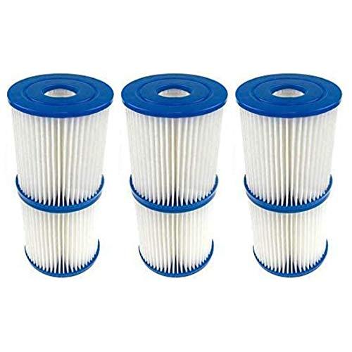 DFRE- Cartuchos filtrantes de repuesto para piscina Bestway tipo I – para piscina Bestway 58093 – Talla 1 – Accesorio de limpieza de piscina – Sustitución para spa (6 unidades)