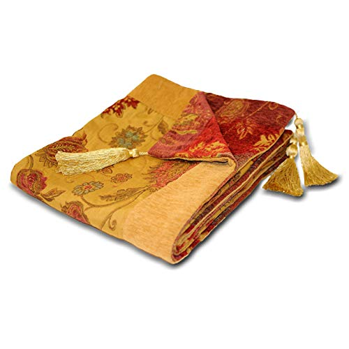 Riva Home Zurich Throw 150X180 Gold, Polyester, 150x180cm