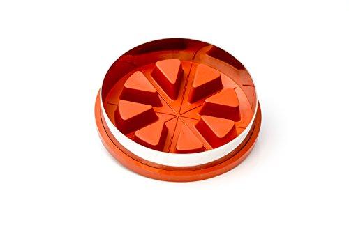 Runde Zila Tortenform für 8 Stücke, Silikon Backform 18,5cm Durchmesser