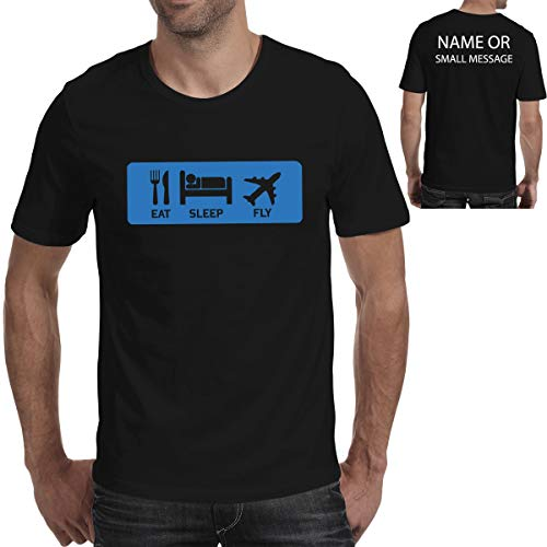 MGEAR Grappig Eet Slaap Vlieg Vliegende Vliegtuig Vleugels Aangepaste Tekst Gedrukt T-shirt Gift Present