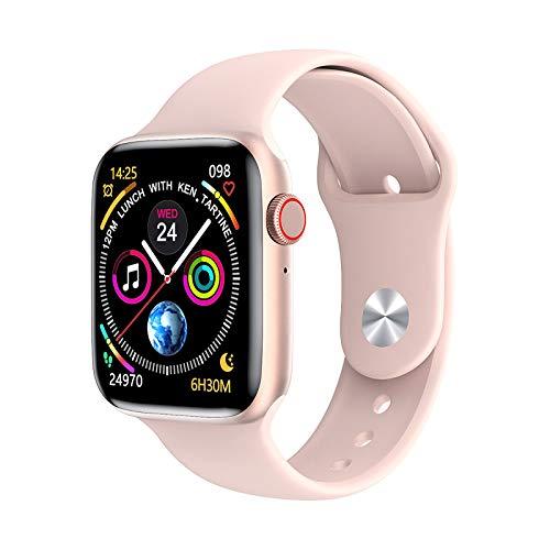 Fitness Smartwatch para Android iOS,Llamadas Bluetooth 1.75 Pulgadas Pantalla Táctil Reloj Deportivo Hombre Mujer,con Ritmo Cardiaco ECG Monitor De Presión Arterial Reloj Inteligente-Rosa