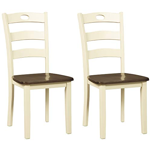 Signature Design by Ashley Woodanville Dining Room Chair, Cream/Brown