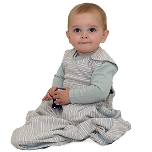 Merino Kids Sac de couchage pour bébés 0-2 ans, rayures Gris clair/gris