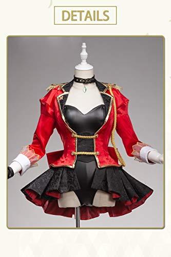 MSSJ UWOWO Costume Sexy Anime Fate Gran Ordine Nero Sabre Abito cerimoniale Scintillante Abito da Battaglia Idolo Uniforme Costume Cosplay Donna M